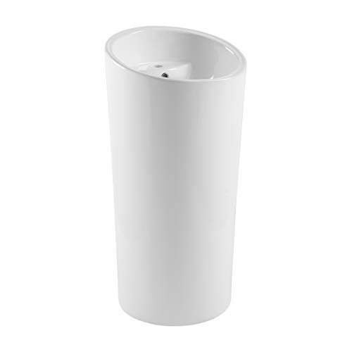 Swiss Madison Well Made Forever SM-PS310 St. Tropez One Piece Pedestal Sink, Glossy White