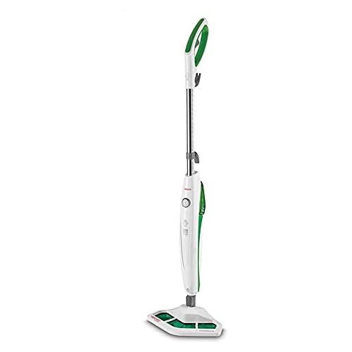 Polti Vaporetto SV400_Hygiene Scopa Vapore con Spazzola Vaporforce, uccide ed elimina il 99,9%* di virus, germi e batteri, Serbatoio Estraibile, 1500 W, 0.3 L, Verde