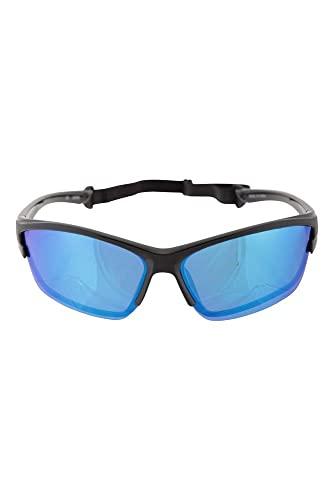 Mountain Warehouse Donabate polarisierte schwimmende Sonnenbrille – leicht, UV400-Gläser, Tragebeutel, haltbares Kunststoffgestell – ideal für Sommer, Camping, Wandern Schwarz Einheitsgröße
