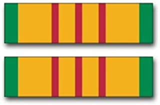 Military Vet Shop Magnet US Army Vietnam Service Medal Ribbon Vinyl Transfer (Pair) Vinyl Magnet Car Fridge Locker Metal Decal 3.8