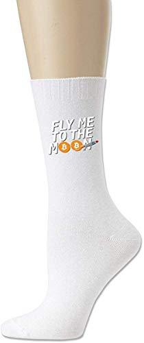 HNJZ-GS Chaussettes athlétiques en Coton Fly Me to The Moon pour Femmes, pour Hommes