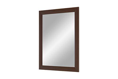 Duisburger-Rahmen24 Flex 35 - wandspiegel met frame (weng), spiegel op maat met 35 mm brede MDF-houten lijst - op maat gemaakte spiegellijst incl. spiegel en stabiele achterwand met ophanghaken 55 x 80 cm (Außenmaß) wengéhout