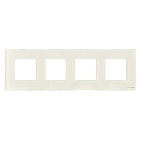 Niessen zenit - Marco 4 elementos serie zenit cristal blanco