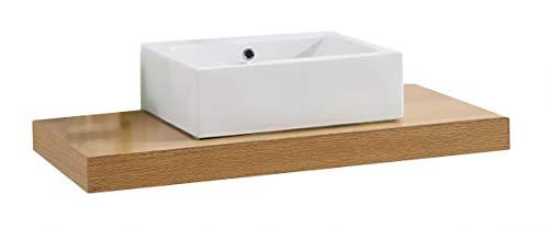 Waschtischkonsole CADENA 100 x 50 cm, Echtholz (Eiche)