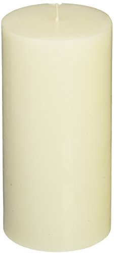 Zest Candle Pillar Candles, 3 by 6-Inch, White Citronella