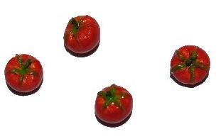 alles-meine.de GmbH 3 Stück: Tomate Gemüse Küche Miniatur für Puppenstube Puppenhaus - Puppenstuben Küche - Maßstab 1:12