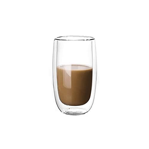 FEINENGSHUAI Vasos de Cristal Tazas de café de Doble Pared para el hogar, Hecho a Mano, Resistente al Calor, 7 oz Latte Cup (Size : Medium)