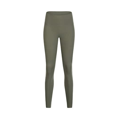 Leggings de Yoga de Fitness Desnudos Suaves para Mujer Pantalones de chándal de Fitness de Cintura Alta Anti-Sentadillas Pantalones de Yoga elásticos y de Secado rápido JL