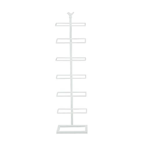 LYLY Zapatero de hierro de 7 niveles para zapatos Nordic Simplicity - Soporte estrecho para zapatos para el hogar, dormitorio, puerta, zapatero organizador (color: blanco)