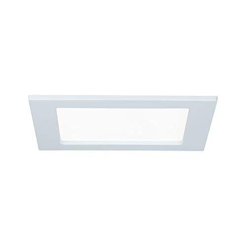 Paulmann 92065 Einbaupanel LED eckig Deckenleuchte 12W Licht 4000K Neutralweiß LED Panel Weiß IP44 spritzwassergeschützt inklusive Leuchtmittel