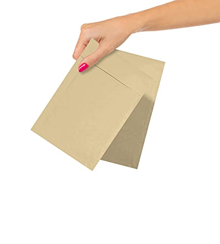 ABC Pack of 25 Kraft Padded Bubble Mailers 4 x 7 Natural Brown Kraft Bubble Envelopes 4 x 7 Peel and Seal Envelopes Shipping Bags for Mailing Packing Moving, Wholesale Price