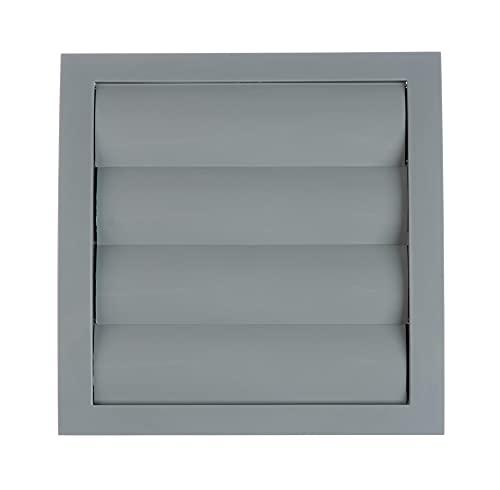 Grau 125mm Lüftungsgitter mit beweglichen Lamellen - Rückstauklappe mit Insektenschutz