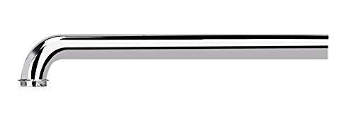 Messing Wandrohr 350mm für Röhrensiphon Siphon, Keymark Verlängerung Extra Lang Rohr mit 90° Bogen 32mm für Geruchsverschluss Flaschensiphon, Verchromt