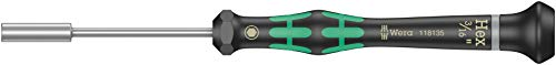 """Wera 05118135001 Destornillador Aprieta-Tuercas para Usos Electrónicos, 0 W, 3/16"""", 60 mm"""