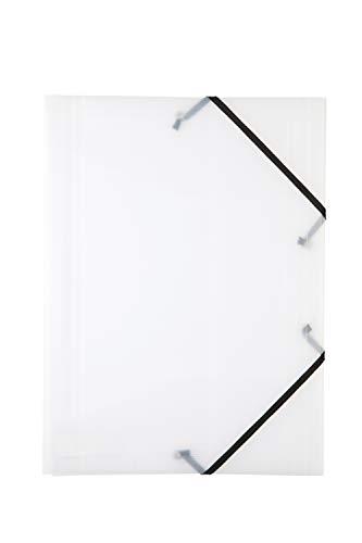 Idena 10376 - Gummizugmappe DIN A3, PP, transparent, 1 Stück
