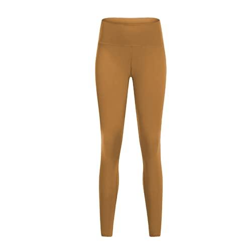 QTJY Pantalones de Yoga Suaves de Cintura Alta, Pantalones de chándal de Gimnasio para Mujeres, Pantalones de Fitness Protectores en Cuclillas, Pantalones de Yoga de Secado rápido elásticos DL
