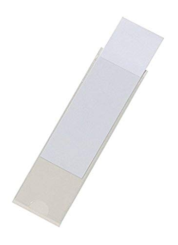Durable Selbstklebetasche Pocketfix für Einsteckschilder, 75 x 18 mm, 81 x 22 mm, 10 Stück, transparent, 807319