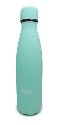 Nerthus 1 Botella térmica acero 500 ml TURQUESA/TOURQUAISE Double wall Bottle, Inoxidable