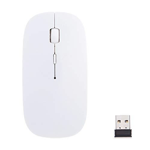 Majome 1600 dpi 2.4G USB Ratón inalámbrico óptico para computadora Ratón Ultra Delgado para PC Portátil de Escritorio