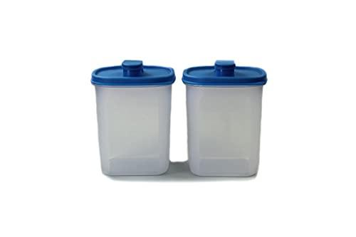 TUPPERWARE Slim Line Jarra 1,0 L Nevera Botella azul (2) 38407