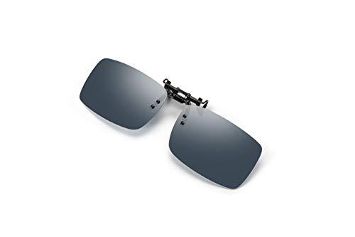 Bircen Mens Clip-on Polarized Sunglasses For Men and Women Anti Glare Driving Fishing Golf,Flip Up Rimless Sunglasses