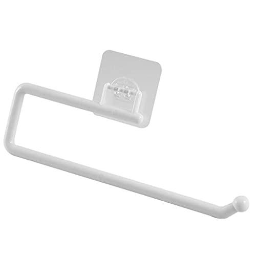 SJHFG Soporte de rollo de cocina autoadhesivo debajo del gabinete de papel toallero percha de papel sin taladrar rollo rack dispensador para cuarto de baño dormitorio