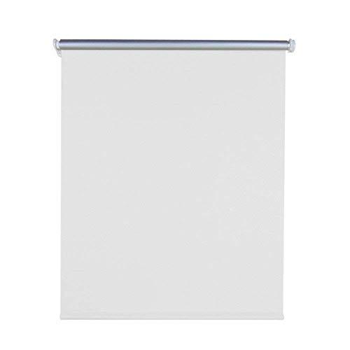 Aufun Verdunkelungsrollo Thermorollo Seitenzugrollo Seitenzug Klemmrollo ohne Bohren Klemmfix (100 x 160 cm, Weiß)