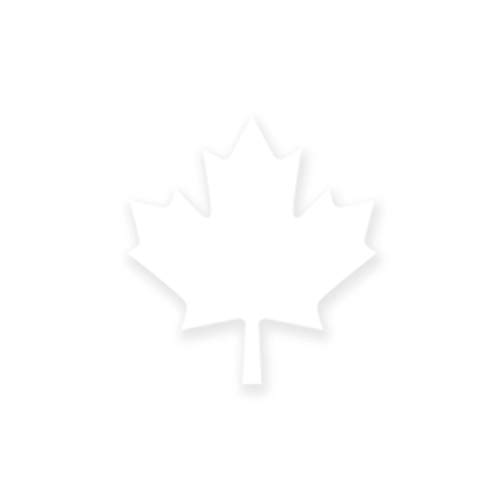 Canada Maple Leaf Symbol Logo Heat Transfers Sticker - White OSFM