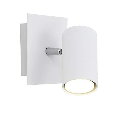 Trio Leuchten Spot in Metall weiß, Wandspot 1-flammig, exklusiv 1xGU10, 12 x 12 cm 802400101