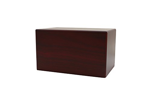 Near & Dear Pet Memorials MDF Box Pet Urn, 25 Cubic Inch, Cherry - with Engraving