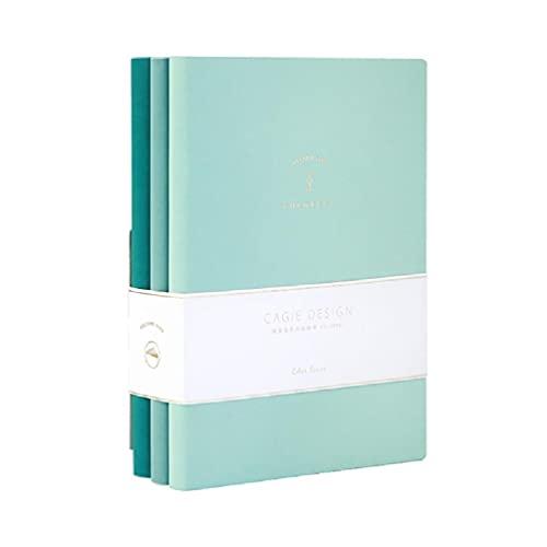 Paquete de 3 exquisitos manuales de viaje A5 de piel sintética, cuaderno de papelería, multiuso, para la escuela, oficina, A5, 3 unidades, 80 g/m², papel grueso de alta calidad