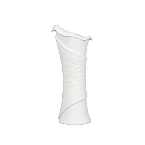 FanChose Moderno Vaso di Ceramica Bianco, Slim Fiore Vaso in Ceramica della Tabella della Decorazione per la Decorazione Domestica Moderna Flower Vase per Le Piante Minimalista Fiore