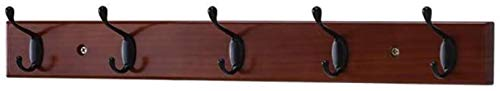 Stevige Houten Kapstok, aan de muur gemonteerde kapstokhaak Garderobestaander Geen Ponsen achter de deur Bedroom Entryway kapstok for kleding, hoed, pakket Brown A 61cm, Grootte: 61cm, Kleur: Hout Kle