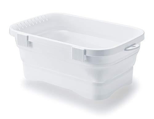 イセトウ 折りたたみ洗い桶 キッチンソフトタブ 6.6L ホワイト I-590