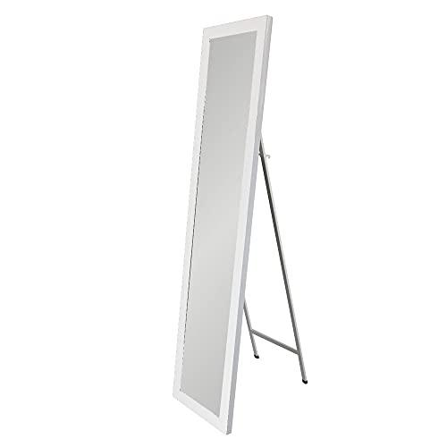 Espejo de pie Blanco nórdico de plástico de 37x157 cm - LOLAhome