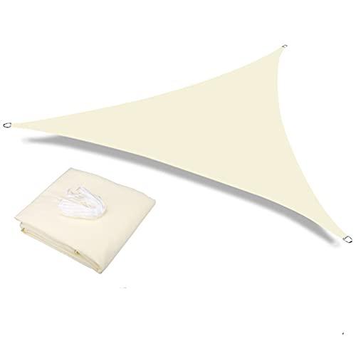 BAOWEISHI Rectángulo de Vela de Sombra al Aire Libre UV Bloqueo de Dosel para Patio Patio Backyard Jardín de jardín Actividades al Aire Libre, Arena (Color : Beige 3.6x3.6x3.6M)