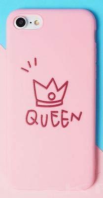 Coquefone Schutzhülle für iPhone 7 und iPhone 8 Queen Königin Krone Katze Prinzessin