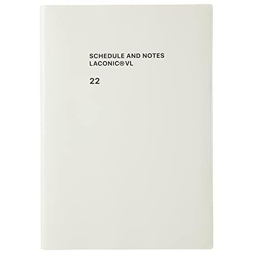 ラコニック 手帳 2022年 A5 ウィークリー タイポグラフィー ホワイト