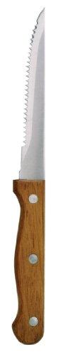 Ristorazione Apparecchio Superstore C136coltelli da bistecca, manico in legno, colore: marrone (Confezione da 12)