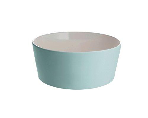 Alessi Salatschüssel, Keramik, Pale Green, 23 x 23 x 9 cm
