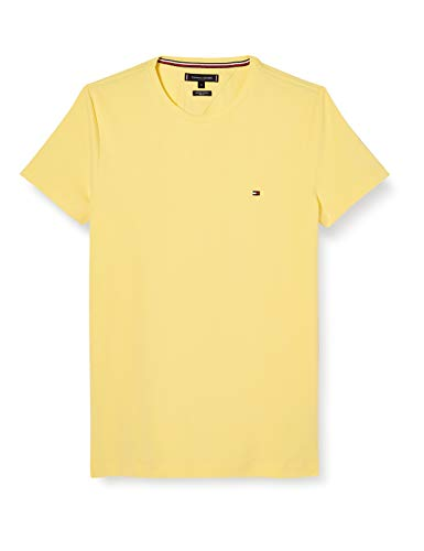 Tommy Hilfiger Herren Stretch Slim Fit Tee Hemd, Yellow, L