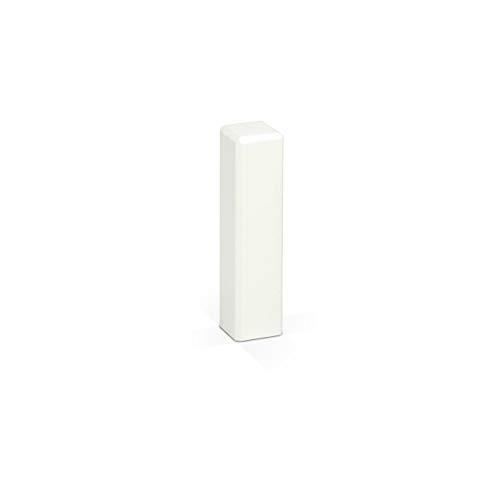 KGM Eckturm 4er Vorteilspack | Höhe 75mm | ✓Massiv ✓Echtholz weiß ✓weiß lackiert | Außenecken Innenecken & Leisten Verbinder | Saubere Übergänge zwischen Ihren Sockelleisten | Ecktürme weiß