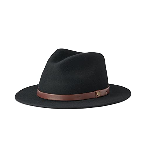 BRIXTON Messer Chapeau Couleur Unie Noir Noir s