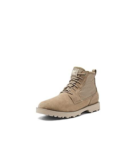 SOREL Men's Caribou Mod Chukka WP Boot — Wet Sand, Fungi — Waterproof Suede & Nylon Rain Boots — Size 11