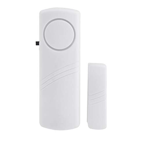 Heaviesk Door Window Alarma antirrobo inalámbrica con Sensor magnético Seguridad para el hogar Dispositivo de Seguridad de Sistema inalámbrico más Largo Blanco Al por Mayor