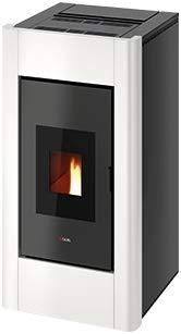 CADEL Idro Prince 30 kW H2O Pelletofen wasserführend Ofen Pellet Kamin Auswahl Metall-Weiss