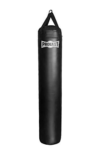 PROLAST Muay Thai Heavy Bag - 6 ft 150 lb - Filled (Black)