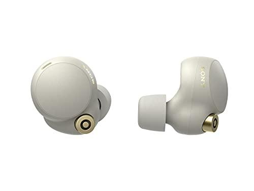 Sony WF-1000XM4 - Auriculares True Wireless con Noise Cancelling, hasta 24 horas de autonomía con el estuche de carga, con micrófono incorporado para llamadas, conexión Bluetooth precisa, color plata