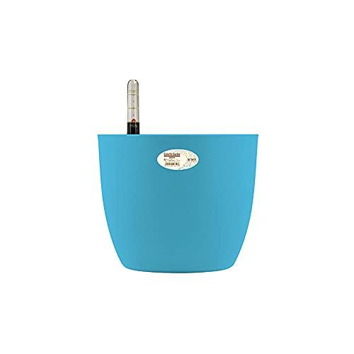1 Set Multicolor Plastic Zelfvergieting Bloempot Moderne Thuisbureau Tuin Succulente Bloempot Een zelf-waterig systeem voor uw kamer, tuinkantoor en balkondecoratie (Color : Blue, Sheet Size : M)