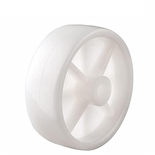 LJSF Möbelrollen Weiße pP verschleißfeste Nylonräder mit einem Durchmesser von 75 mm, leichten lagerlosen mechanischen Rollen Geeignet für Homeoffice und Hubwagen